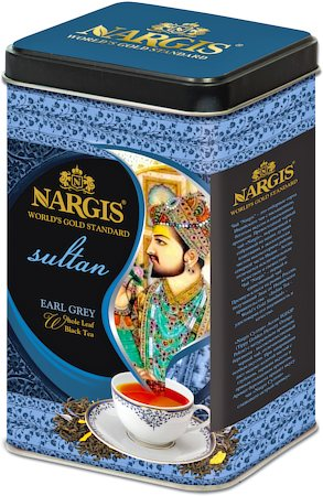 Nargis Sultan Earl Grey Tea, Loose Whole Leaf 200 gm Premium Caddy