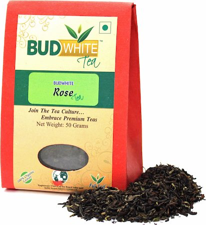 Budwhite Rose Organic Loose Full-Leaf Tea 50 gm