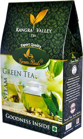 GreenBuds Kangra Steam Green Tea, Loose Leaf 125 gm