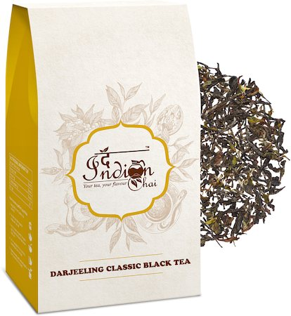 The Indian Chai - Pure Darjeeling SFTGFOP First Flush Black Tea, Loose Whole Leaf 100 gm