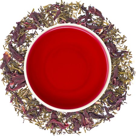 Danta Herbs Hibiscus Bliss Green Tea, Loose Leaf 100 gm