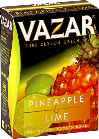 Vazar Pineapple & Lime Green Tea, Loose Leaf 100 gm