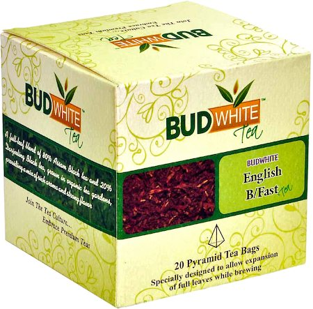 Budwhite English Breakfast Tea (20 Pyramid tea bags)