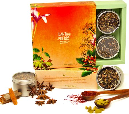 Danta Herbs Bouquet Garni - Soulful Spices Tea Gift Box, 160 gm