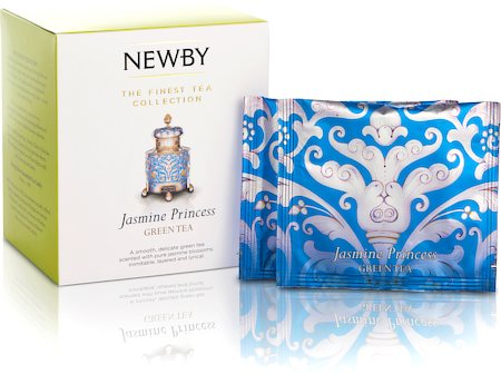Newby Silken Pyramids - Jasmine Princess Tea (10 Pyramid tea bags)