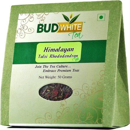 Budwhite Himalayan Tulsi-Rhododendron Loose Leaf Tea 50 gm