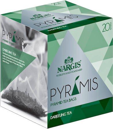 Nargis Pyramis Darjeeling Black Tea (20 pyramid tea bags)