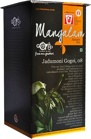 JayShree Assam Mangalam Orthodox Black Tea, Whole Leaf 100 gm