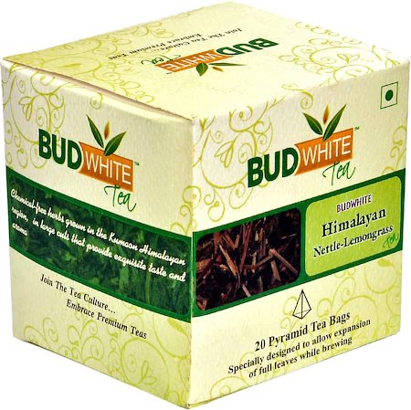 Budwhite Himalayan Nettle Lemongrass Tea (20 Pyramid tea bags)