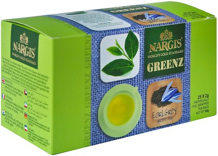 Nargis Greenz Earl Grey Organic Green Tea (25 tea bags)