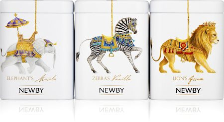 Newby Black Tea Carousel - Assorted Tea Gift (3 mini-caddies)