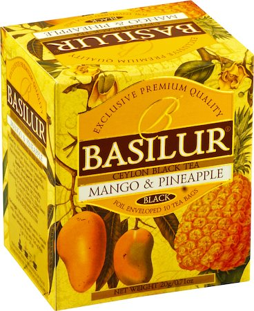 Basilur Magic Fruits Mango and Pineapple Tea (10 tea bags)