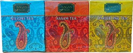 Bagan Darjeeling, Assam & Nilgiri Loose Teas Trio Pack - Paisley Gift Box, 150 gm