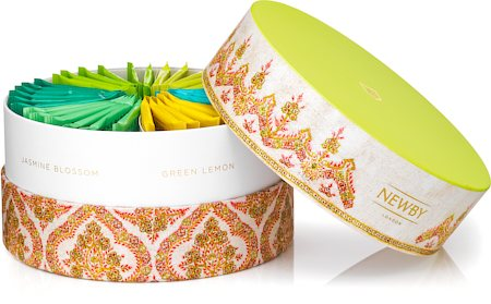 Newby Green Tea Crown Assortment - Circular Luxury Gift Box (36 finest tea bags)