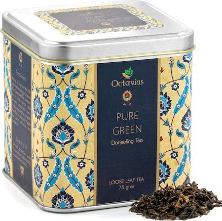 Octavius Pure Darjeeling Green Tea, Loose Leaf 75 gm Premium Caddy