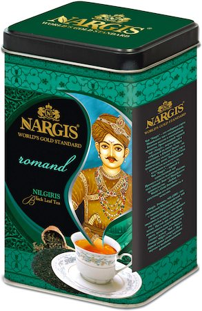 Nargis Romand Nilgiri Black Tea, Loose Leaf 200 gm Premium Caddy