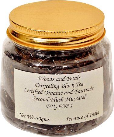 Woods and Petals Darjeeling Organic Black Tea, Second Flush Loose Leaf 50 gm