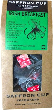 Saffron Cup Irish Breakfast Black Tea (20 Pyramid tea bags)