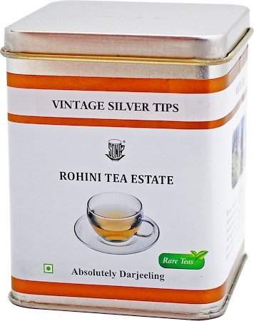 Vintage Rohini Silver Tips White Tea, Loose 25 gms Caddy