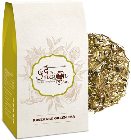 The Indian Chai - Premium Rosemary Green Tea, Loose Whole Leaf 100 gm