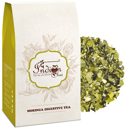 The Indian Chai - Moringa Digestive Herbal Tea, 100 gm