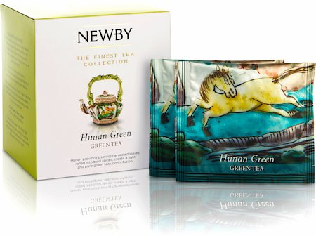 Newby Silken Pyramids - Hunan Green Tea (10 Pyramid tea bags)