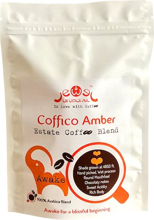 Coffico Amber Awake 100% Arabica Blend Coffee, Fine Grind 250 gm