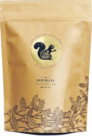 Flying Squirrel Deep Bliss Dark 100% Coffee, Whole Beans 250 gm