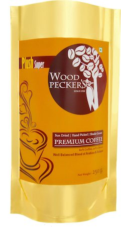 Woodi Peck's Plush Super Coffee Powder - 20% Chicory, 250 gm