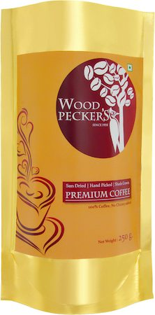 Woodi Peck's Premium 100% Pure Coffee Powder, 250 gm