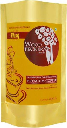 Woodi Peck's Plush 100% Pure Coffee Powder, 250 gm