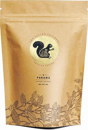 Flying Squirrel Parama Luxury Blend Aritsan Coffee, Whole Beans 250 gm
