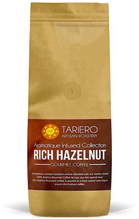 Tariero Rich Hazelnut Flavoured Gourmet Coffee, Fine Grind 250 gm