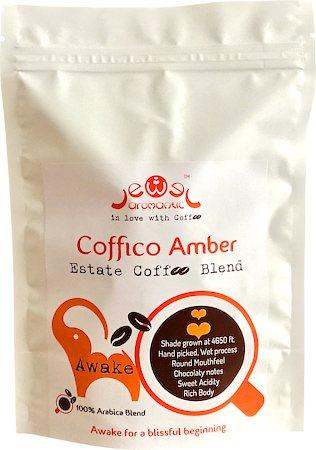 Coffico Amber Awake 100% Arabica Blend Coffee, Whole Beans 250 gm