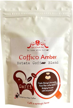 Coffico Amber Caffi 100% Pure Filter Coffee, Medium Grind 250 gm