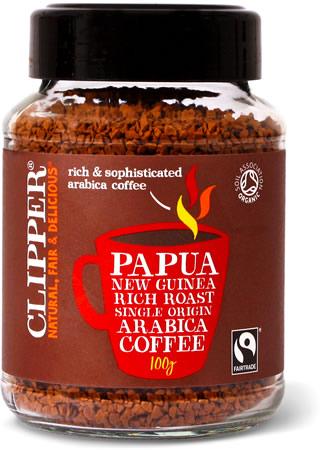 Clipper Papua New Guinea Organic Arabica Rich Roast Instant Coffee, 100 gm