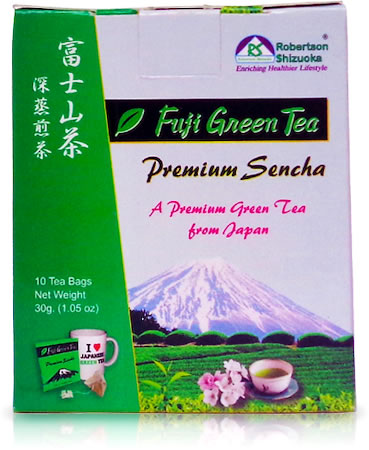 Robertson Shizuoka Japanese Premium Sencha Fuji Geen Tea, Natural (10 Pyramid tea bags)