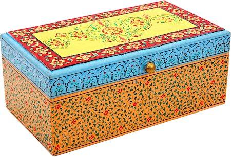 Kaushalam Hand-Painted Tea Box - Multicolour