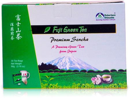 Robertson Shizuoka Japanese Premium Sencha Fuji Geen Tea, Natural (30 Pyramid tea bags)