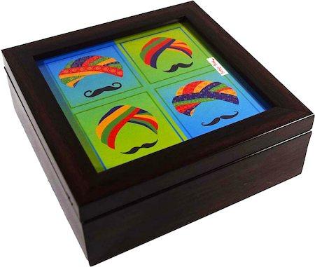 Twirly Tales Turban Series Square Tea Bag Organiser