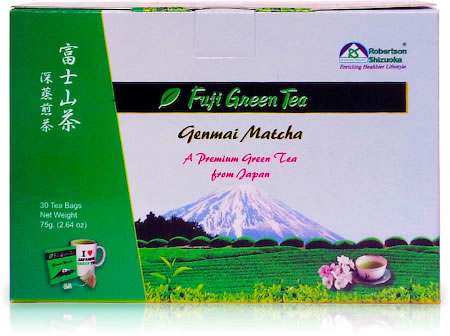 Robertson Shizuoka Japanese Genmai Matcha Fuji Green Tea, Nutty (30 Pyramid tea bags)
