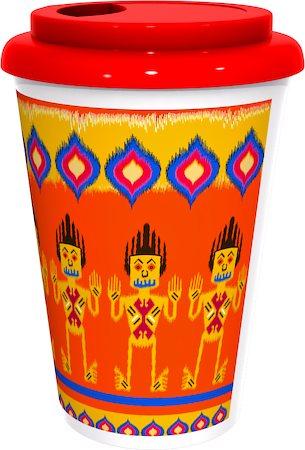 Kolorobia Colourful Ikat Cafe Mug