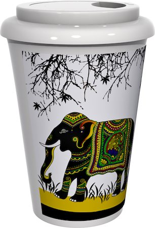 Kolorobia Royal Elephant Cafe Mug