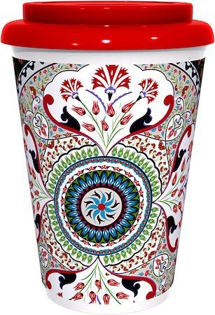 Kolorobia Stylish Turkish Red Cafe Mug