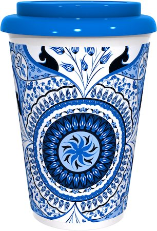Kolorobia Turkish Blue Cafe Mug