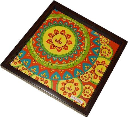 Twirly Tales Festive Diya Series Square Tray