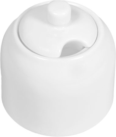 Wilmax ENGLAND Fine Porcelain Sugar Bowl, 340 ml (White)