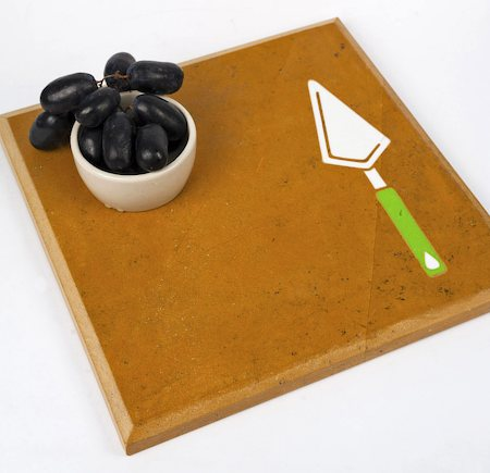 Amalgam Hand-carved Kitchenette Motif Stone Table Placemat - Design 2