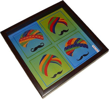 Twirly Tales Turban Series Square Tray