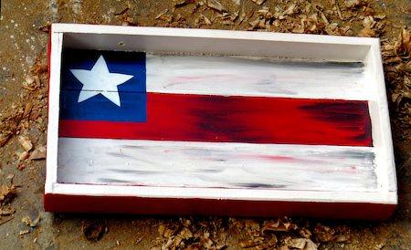 ScrapShala Hand-Painted Charismas Star Vintage Wooden Tray